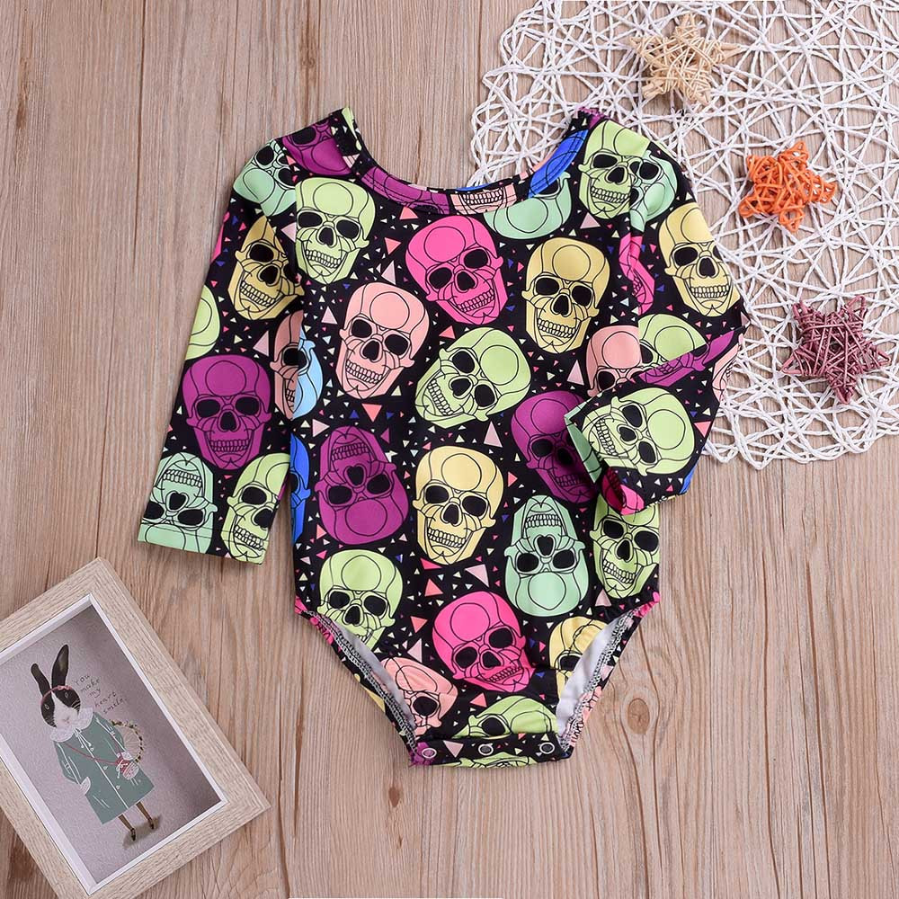 Halloween Cloth Toddler Costumes Baby Long Sleeves Skull Print Romper Infant Clothes Jumpsuit Fashion Children's Clothing Sets