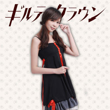 Anime Guilty Crown Inori Yuzuriha Cosplay Costume Women Slip Dress Black/White demitoilet Daily Clothing