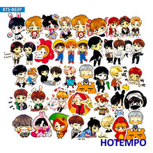 58/63pcs Kpop Boy Men Team Fashion Stickers for Girl Kids Gift DIY Letter Diary Scrapbooking Stationery Phone Case Stickers(China)