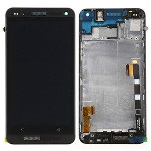 Image 2 - 801e односимочный ЖК дисплей для HTC One M7 ЖК дисплей 4,7 дюймов сенсорный экран сменный дигитайзер в сборе с рамкой 1 год гарантии