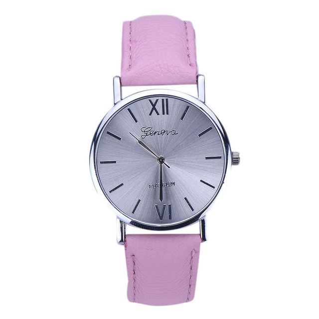 Fashion erkek saat Geneva Simple Style Quartz Watch Women Girl Leather Band Wrist Bracelet Watches Hot sale Dropship Relogio #D