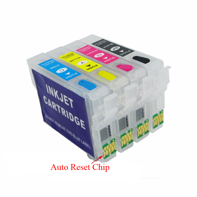 4pc 29 XL for Epson T29XL T2991-T2994 Refillable Ink Cartridges with ARC chip for Epson XP235 XP-332 XP-335 XP432 XP-435 printer free shipping t0540 t0549 refillable ink cartridges with arc chip for epson photo r800 r1800 printer