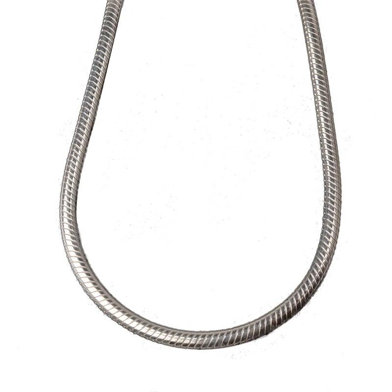 JustNeo solide 925 collier en argent sterling avec chaîne de serpent, chaînes de base-in Colliers chaîne from Bijoux et Accessoires    1