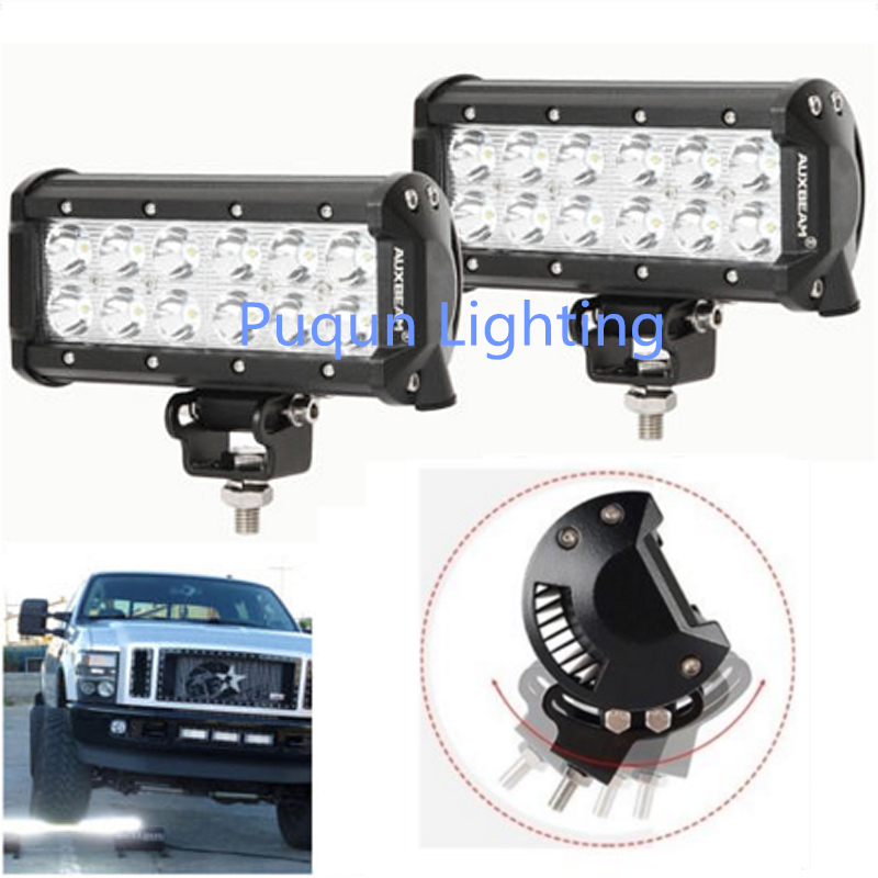 2pcs 7inch 36W CREE Led Work Light Bar Flood Beam SUV Offroad Driving Fog Lights 10w led 60 degrees flood beam work light w cree xml t6 10 30v