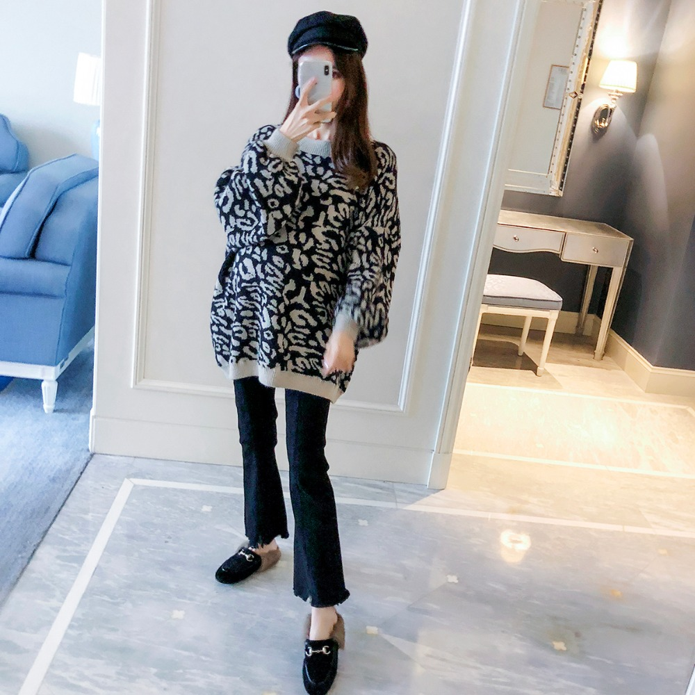 Pregnant women pants 2018 autumn new fashion loose thin micro trousers tide mother wear wild stomach lift jeans