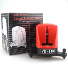 YD-810 2 Krzyż Czerwony Laser Level 360 samopoziomujący Narzędzia Pomiarowe Poziome I Pionowe