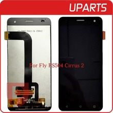 High Quality For Fly FS504 FS 504 Cirrus 2 LCD Display + Touch Screen Assembly LCD Digitizer Glass Panel Replacement Free Ship