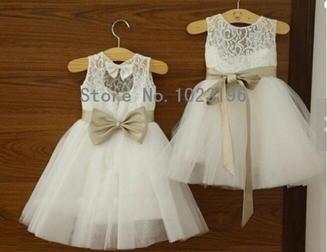 Popular Infant Flower Girl Dresses Ivory-Buy Cheap Infant Flower ...