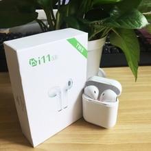 I11 наушники-вкладыши Tws Bluetooth наушники Беспроводной наушники Bluetooth vs i8 i7 для iPhone X Android samsung s7 s8 s9 с розничной посылка