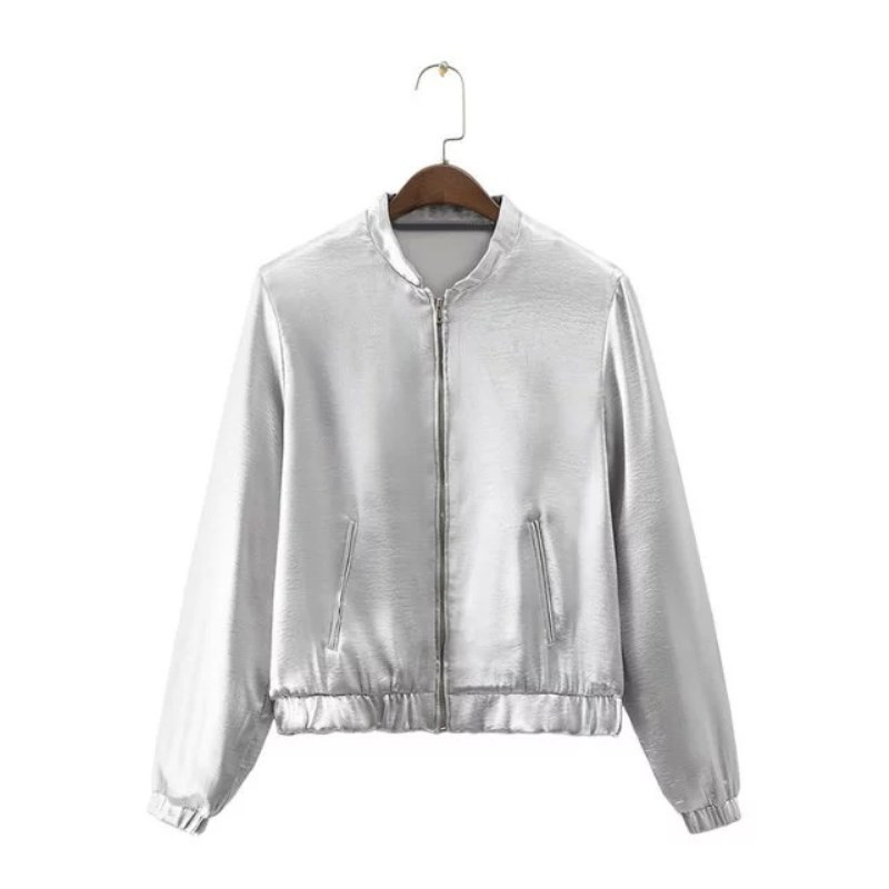 Online Get Cheap Silver Bomber Jacket -Aliexpress.com | Alibaba Group