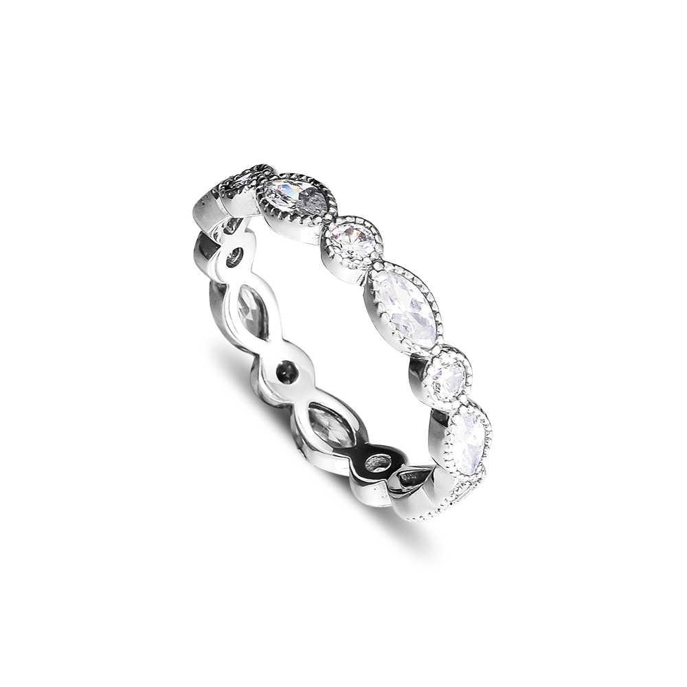 Кольцо CKK, блестящее кольцо с огранкой маркиза для женщин и мужчин, Женское кольцо, Свадебные обручальные ювелирные изделия из серебра 925 пробы