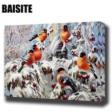 Baisite DIY обрамлении картина маслом по номерам фотографии животных холст картины для гостиной Wall Art Home Decor E852