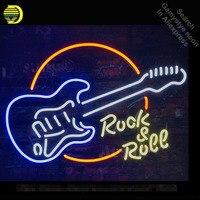 Rock Roll Gitaar Neon Sign neon lamp Teken Neon light Sign glazen Buis Handwerk Commerciële Iconische Teken Neon lichten Heldere kleur|Neon Lampen & Buizen|   -