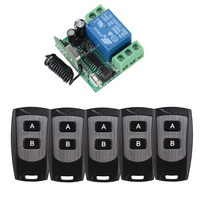 door access control system 12V DC 1CH Wireless Remote Switch 315/433.92 rf remote control light switch Receiver 5 Transmitter