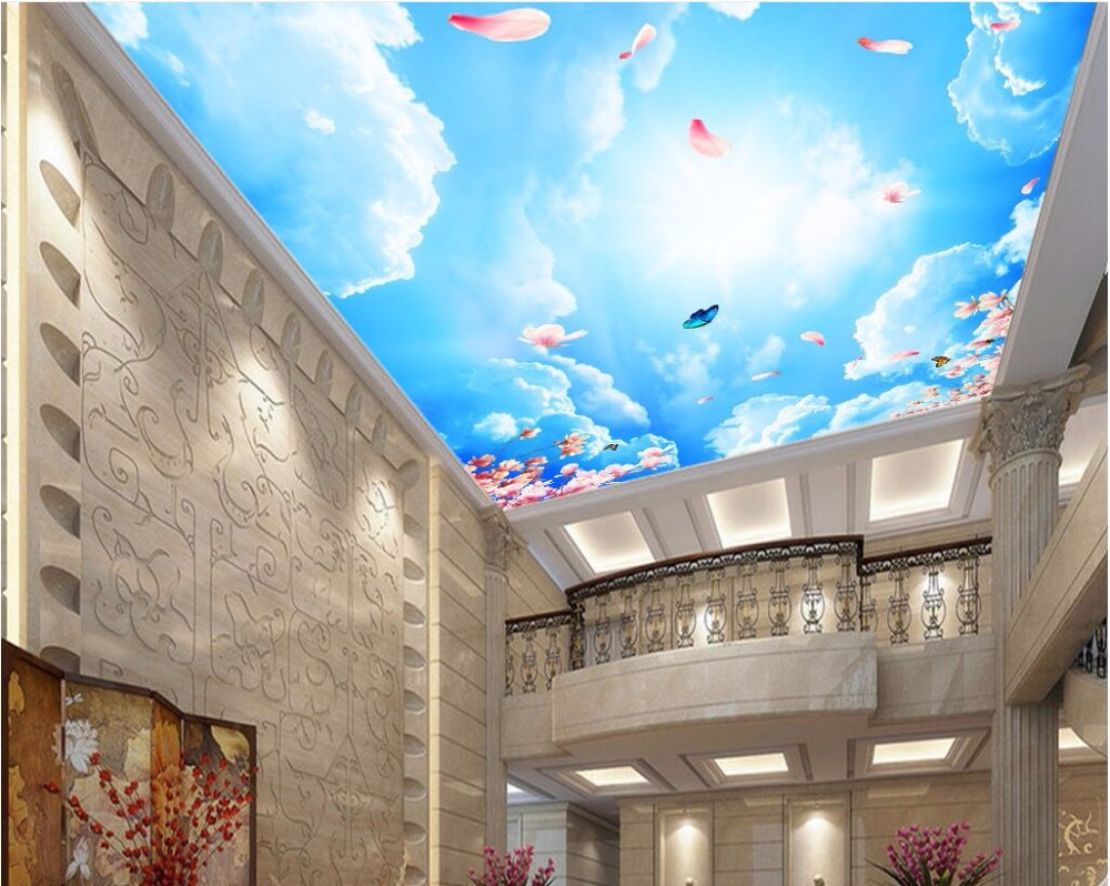 WDBH Custom 3d Ceiling Murals Wallpaper Home Decor Painting Sky
