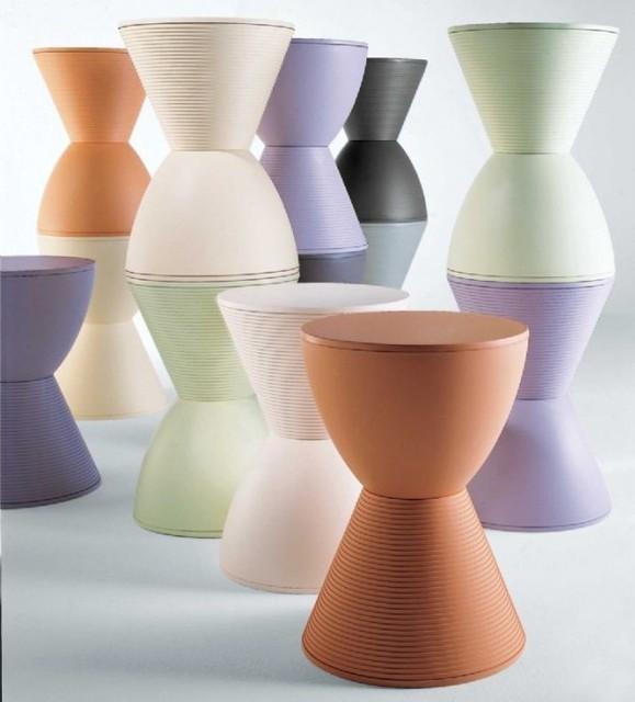 Modern Spring Hourglass Prince Aha Stool Chair