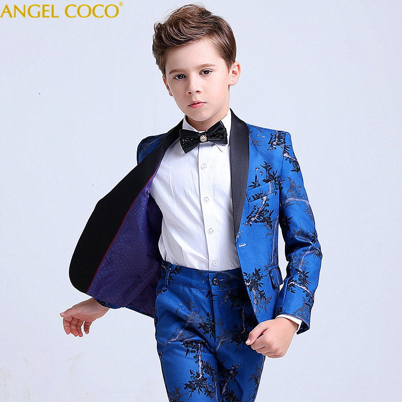 Blue Blazers For Boys Suits Clothing Blazer Children Dress Boys Suits For Weddings Performance Suit Jacket Costume Garcon
