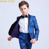 Blue Blazers For Boys Suits Clothing Blazer Children Dress Boys Suits For Weddings Performance Suit Jacket Costume Garcon