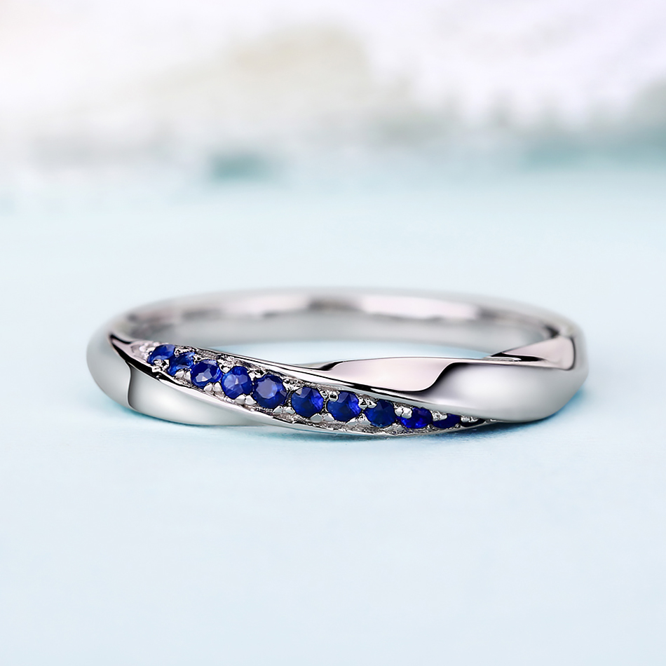 ALLNOEL Genuine 925 Sterling Silver Ring For Women 1.3mm Blue Sapphire Ring Luxury Wedding Engagement Jewelry Rose Gold 3 Colors (15)