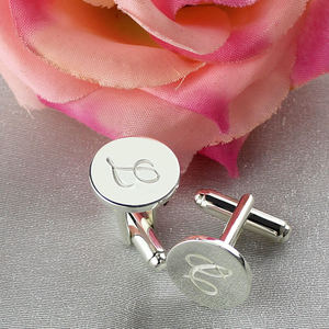 Image 3 - AILIN Personalized Sterling Silver Initial Letter Cufflinks Wedding Groomsmen Cufflinks Gift for Man