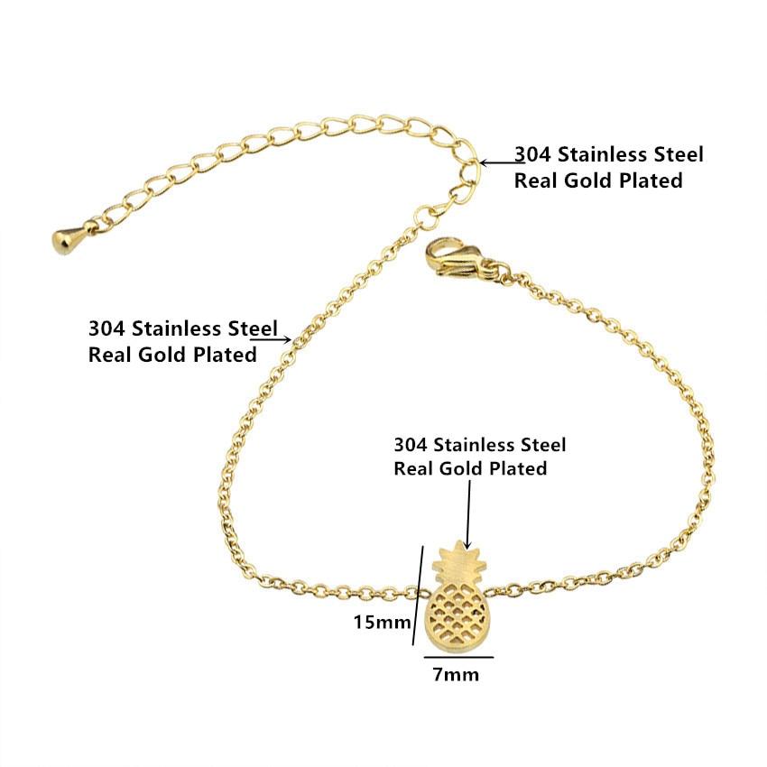 Minimale Ananas Armbänder & Armreifen Edelstahl Armbänder für - Modeschmuck - Foto 4