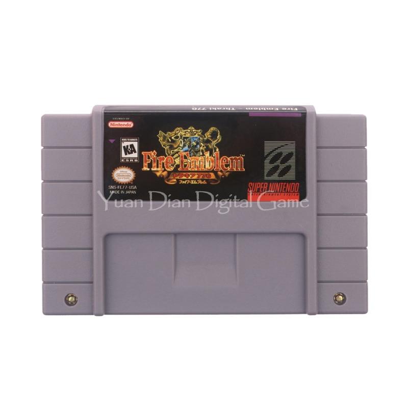 Yuan Dian Digital Game Store Store Nintendo SFC/SNES Video Game Cartridge Console Card Fire Emblem Thraki 776 USA English Language Version