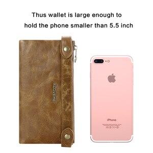 Image 4 - FLOVEME 5.5 بوصة Universale جلد طبيعي سستة محفظة حقيبة لهاتف أي فون X 8 8 زائد 7 7 زائد 6 6 ثانية 5 رجل إمرأة فتحة بطاقة الهاتف حقيبة