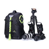 Camera Backpack Waterproof Nylon DSLR Cameras Bag Outdoor Photo Backpacks with Shockproof Liner for Sony A6000 Nikon D3400 Canon