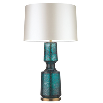 LukLoy American Retro Table Lamp for Living Room Bedroom Bedside Hotel Vintage Glass LED Table Light Creative Decorative Lamps