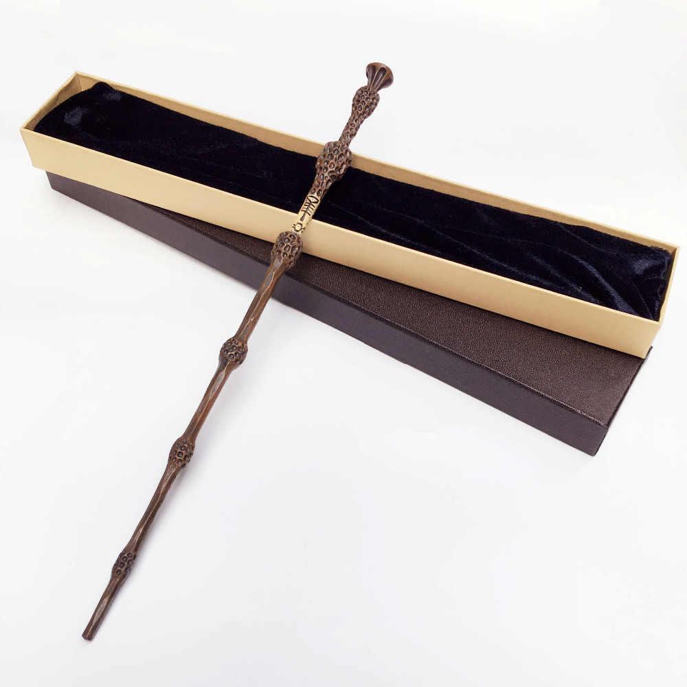 เหล็ก Core ใหม่คุณภาพดีลักซ์ COS Elder Dumbledore Magic Wand ของ Harri Magical Wands ของขวัญกล่องบรรจุ