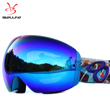2018 Anti-fog big ski goggles double layers UV400 mask glasses skiing men women snow snowboard
