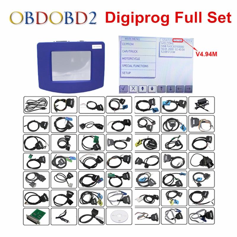 Цена за Новый Digiprog 3 Пробег программист Полный Программное обеспечение DP3 V4.94 Digiprog III Пробег коррекции инструмента Digiprog3 с ST01 ST04 кабель