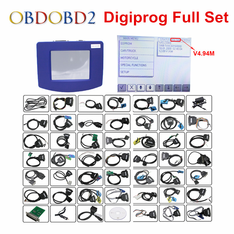 Prix pour Nouveau Digiprog 3 Odomètre Programmeur Logiciel Complet DP3 V4.94 Digiprog III Kilométrage Correction Outil Digiprog3 Avec ST01 ST04 Câble