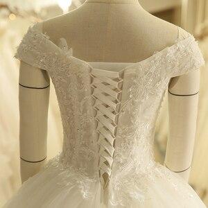 Image 5 - Robe de mariée Vintage, épaules dénudées, avec application, robe de bal, SL 9012, à lacets