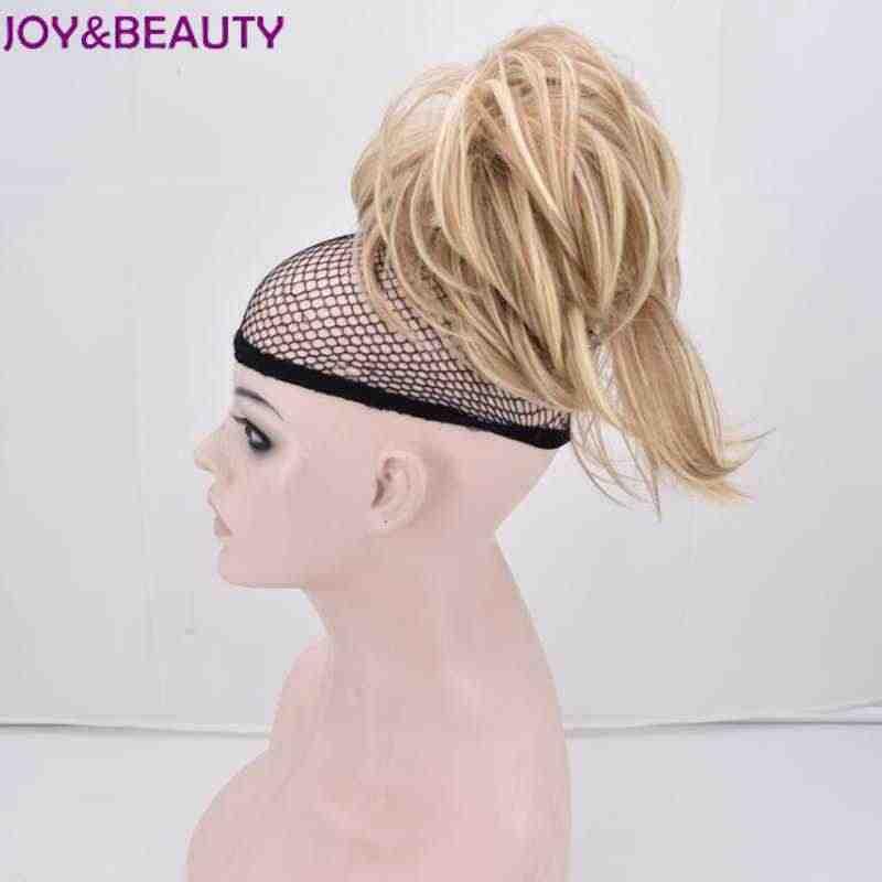 Alegría y belleza para mujeres señoras chicas sintético corto ondulado forma increíble pinza Cola de Caballo extensión de cabello 30cm 5 color