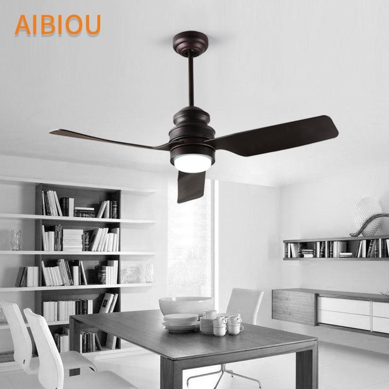 AIBIOU Modern LED Ceiling Fans For Living Room White Cooling Ceiling Fan Lights 220V Cooler Fan Lamp Indoor Lighting Fixtures