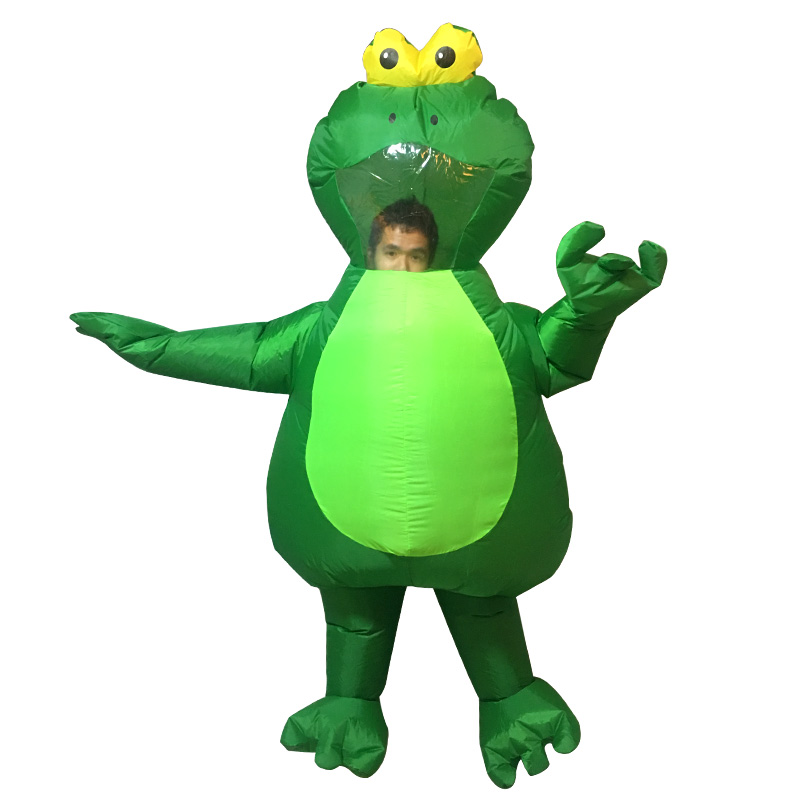 Purim Frog Costumes for Woman Adult Kids Girls Boy Green Monster hunter Inflatable Cowboy Animal Costumes Cosplay Final Fantasy