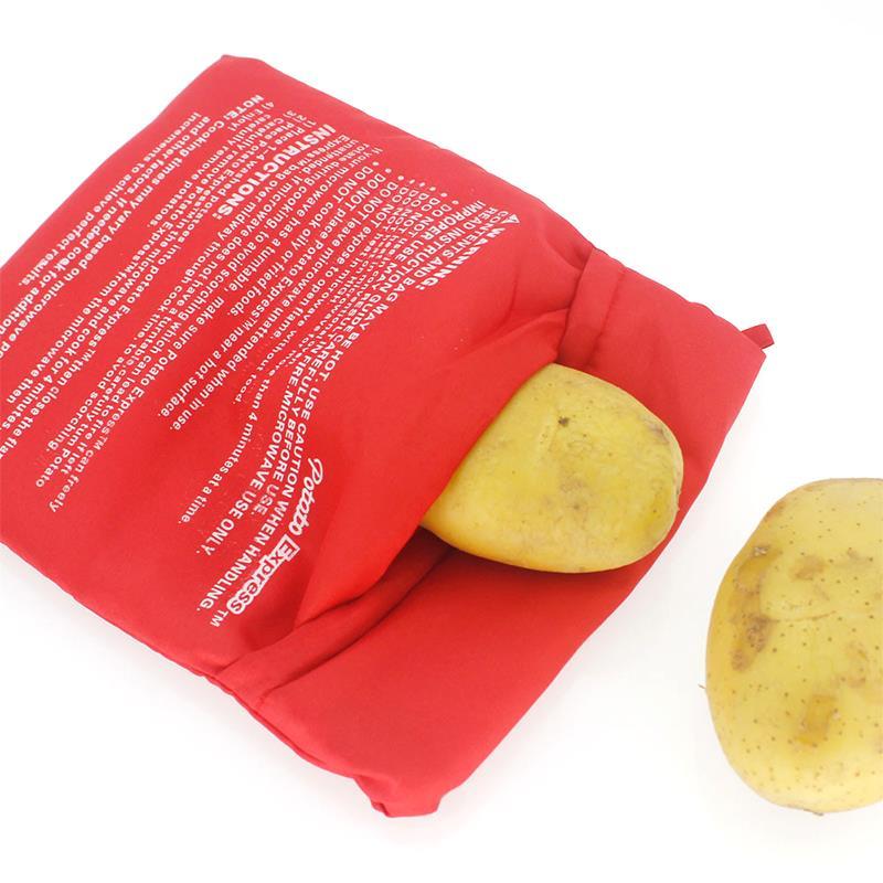 1 шт. новый красный моющийся мешок для плиты, запеченный картофель, микроволновая печь для приготовления картофеля, быстрое приготовление 4 ...