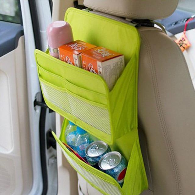 Design de cor verde de estiva arrumar saco de armazenamento de carro banco traseiro