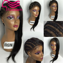 7A Short Full Lace Human Hair Wigs For Black Women Silky Straight Brazilian Full Lace Wig With Baby Hair Glueless Lace Front Wig