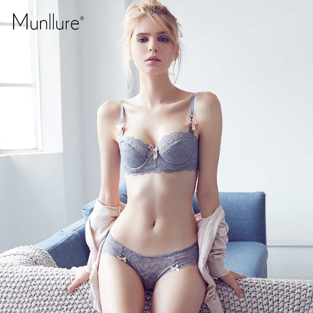 Munllure 2019 new female summer sexy lace bra cup bra cup cotton inside material large code bra