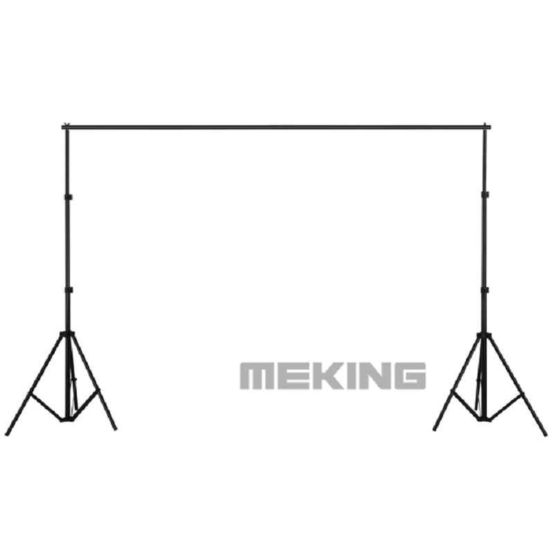 Photography Backdrop Background Support System 2.2m High 2m Wide Professional Studio Set Portable Light Stand & Cross Bar|Photo Studio Accessories| |  - title=