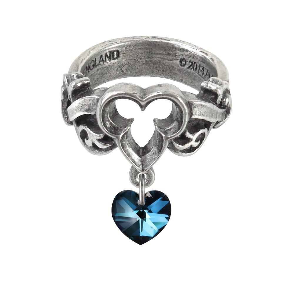 Women Fashion Rhinestone Love Heart Shaped Ring Stylish Silver Plated Fashion Jewelry Gift Engagement Ring Female