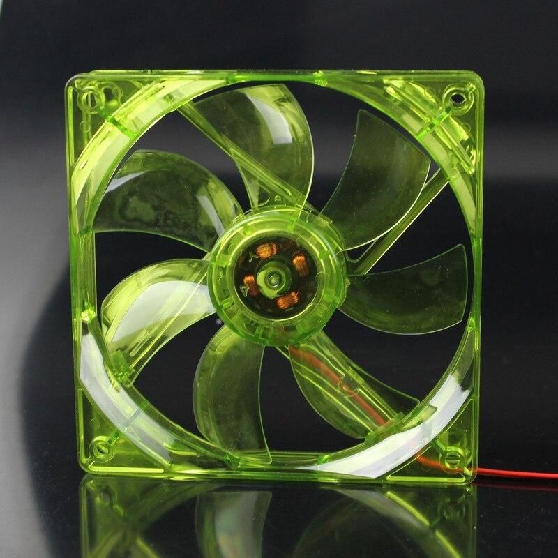 5 шт. в партии Gdstime зеленый 12025 120 мм 12 см 12 в 120 мм* 120 мм* 25 мм 4Pin компьютерный ПК кулер со светодиодной подсветкой охлаждающий вентилятор