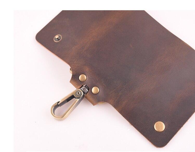 Westcreek marca minimalista couro genuíno artesanal chave