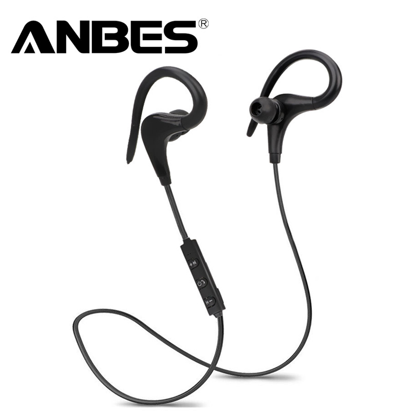 ANBES Bluetooth Headsets Wireless Sport Bluetooth 4.1 Earphones with Mic Noise Cancelling Headphone for Xiaomi iPhone LG Samsung kz zs5 bluetooth headphone wireless sport noise canceling earphone amplifer with mic heavy bass high quality for boy for samsung