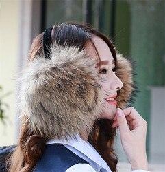 Fashion warm pelz ohrenschützer ohr abdeckung große echt waschbären pelz ohr paket ohrenschützer können eingestellt werden winter weibliche echtpelz ohrenschützer