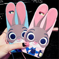 Zootopia Lovely Crazy City 3D Cartoon Case For iphone 5 5S 7 6 6S 7 Plus SE For Samsung Galaxy S7 Edge S6 S5 Rabbit Judy Cover