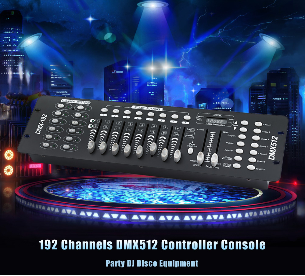 LightMe Professional Stage DJ DMX Stage Light 192 Channels DMX512 Controller Console DJ Light for Disco KTV Home Party Night lightme professional stage dj dmx stage light 192 channels dmx512 controller console dj light for disco ktv home party night