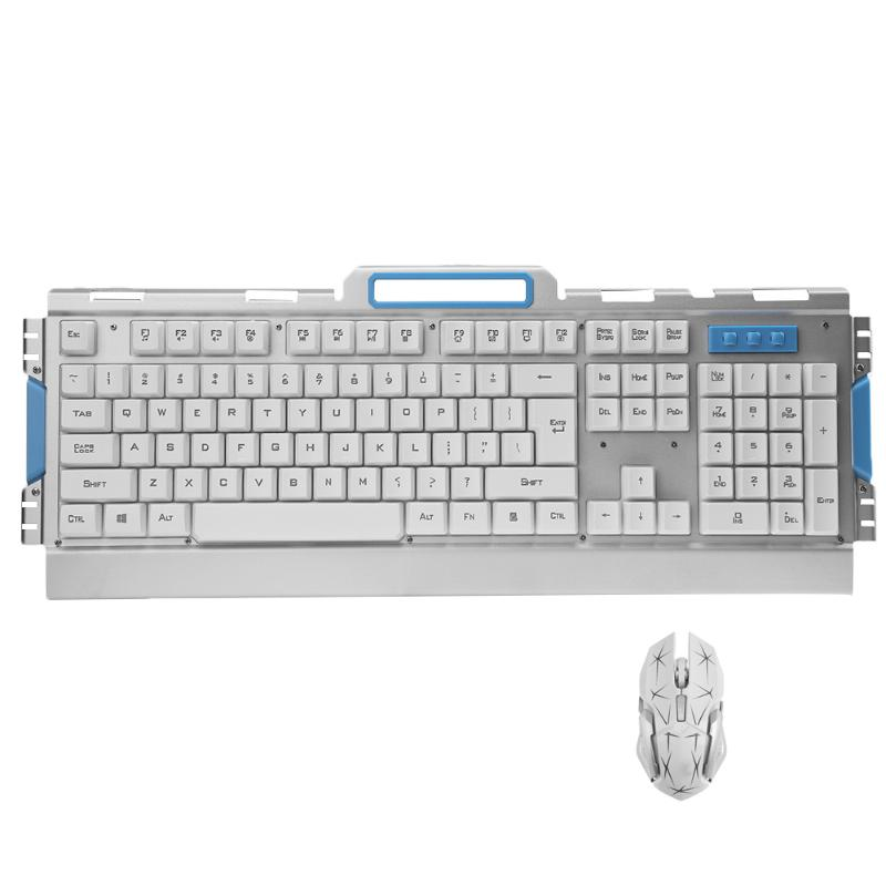 Ultra-thin Optical Wireless 2.4G Gaming Keyboard and Adjustable DPI Optical Mouse Set for PC Computer
